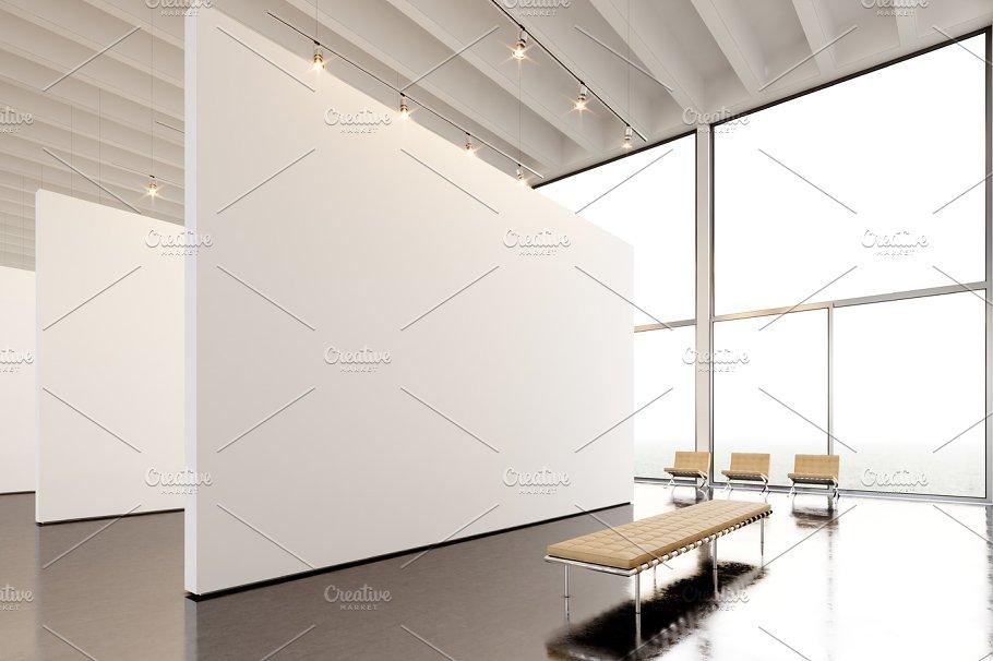 Photo exposition modern galleryopen spaceg white empty canvas photo exposition modern galleryopen spaceg white empty canvas hanging contemporary art sciox Images