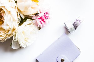 Flowers with Purple Accessories