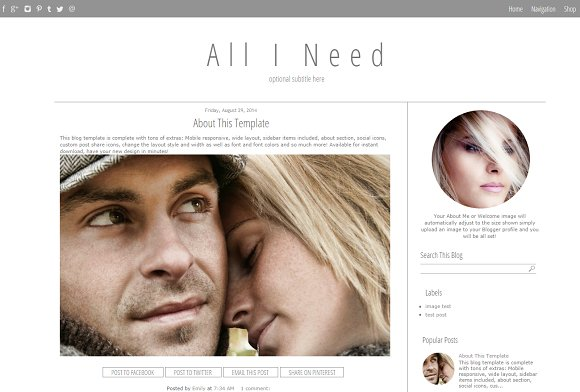 Blogger Template Simple Grey in Templates