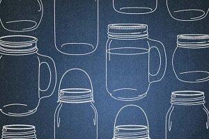 chalk clipart mason jars .png