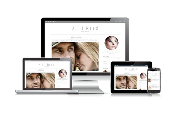 Blogger Template Simple Grey in Templates - product preview 1