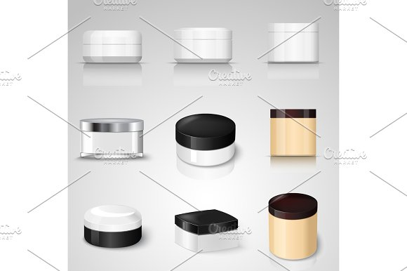 Packaging Containers Vector Templates Set