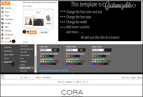 Blogger Template Simple Grey in Templates - product preview 2