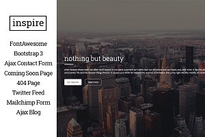 inspire - one page html5 template