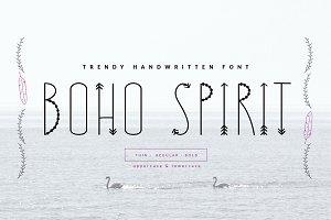 *BOHO SPIRIT* handwritten font+BONUS