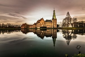 Chateau reflected in water