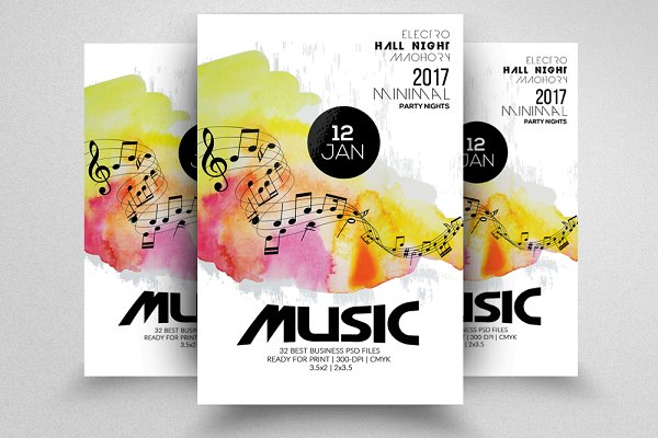 Futuristic/Music Flyer Template