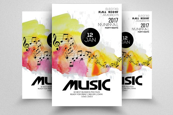 Futuristicmusic flyer template flyer templates creative market futuristicmusic flyer template flyers pronofoot35fo Image collections