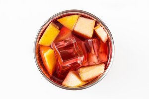 Sangria drink in glass