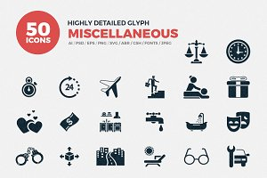 Glyph Miscellaneous Icons Set