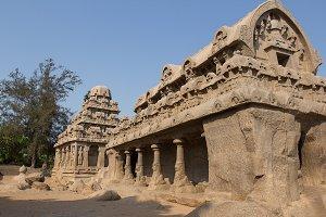 Five Rathas in Mahabalipuram, India