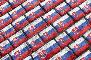 Slovakia Grunge Style Pattern