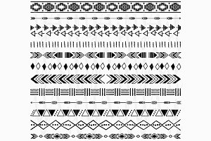 Tribal, Aztec borders Collections