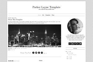 Blogger Template Grey Blog Design