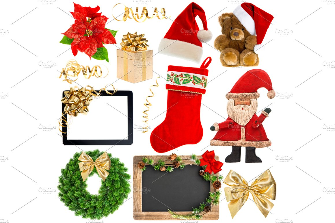 Christmas decoration objects objects creative market for B m christmas decorations