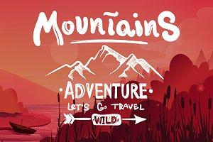 Graphic vector set of adventure
