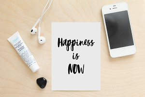 Happines is Now - large format print