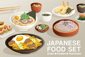 Set of Japanese Food 1