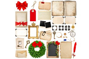 Christmas Scrapbooking Objects
