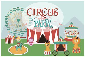 CIRCUS icons and cards templates