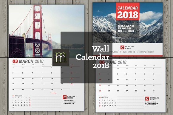 Wall Calendar Design Templates : Wall calendar wc stationery templates
