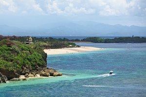 Tropical beach in Bali island
