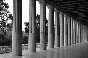 Doric Columns Perspective