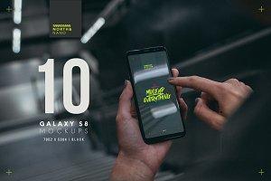 10 Samsung Galaxy S8 PSD Mockups