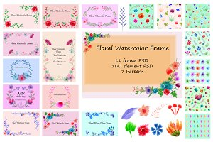 Watercolor Floral vol.1