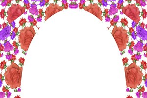 Frame with Floral Borders