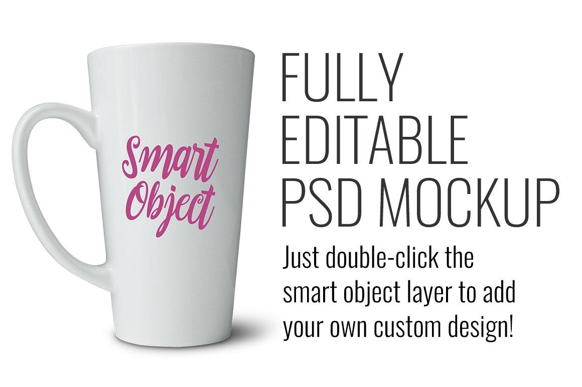 latte mug mockup product mockups creative market. Black Bedroom Furniture Sets. Home Design Ideas