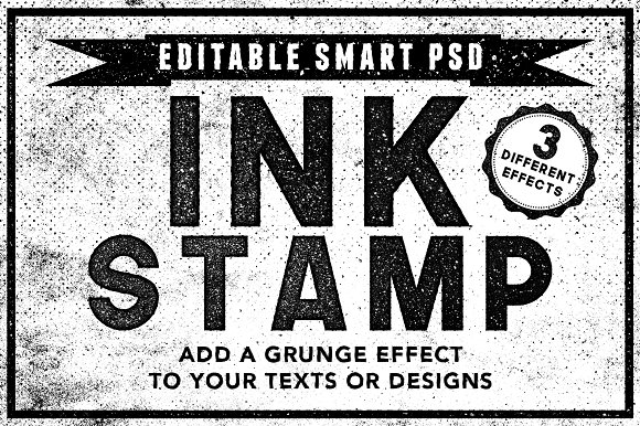 Ink Stamp Effects For Photoshop