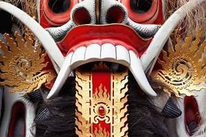 Mask of Balinese demon Rangda