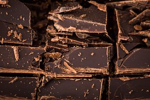 chocolate slices with mint leaf