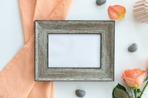 Photo Frame mockup with Roses