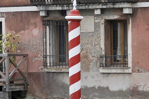 Striped pole