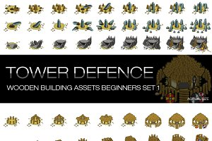 Tower Defence - Wooden Buildings