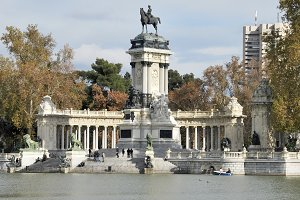 King Alfonso statue, Madrid, Spain