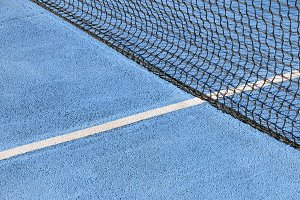 Tennis court blue