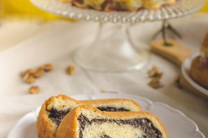 Poppy seeds cake and stuffed buns
