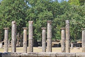 Olympia columns, Greece
