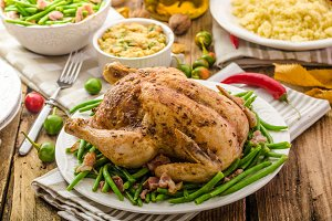 Feasting - Baked chicken stuffed