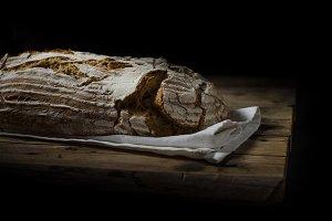 Home-baked sourdough bread