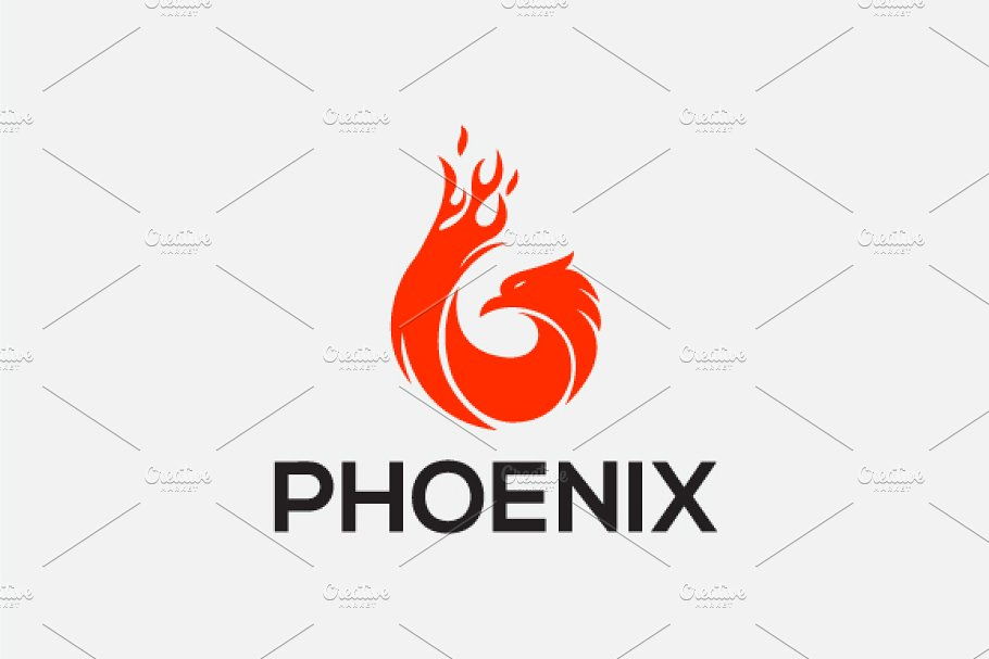 5d479876bc9 Phoenix ~ Logo Templates ~ Creative Market