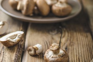 Homemade organic mushrooms