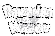Coloring Page: Ramadan Kareem