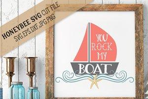 You Rock My Boat cut file
