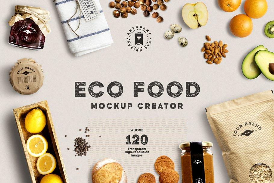 Eco Food Mockup Creator ~ Scene Creator Mockups ~ Creative Market