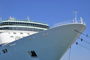 Cruise ship moored