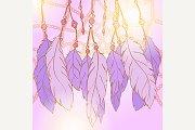 Dream catcher feather vector art